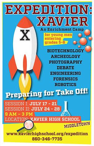 Xavier High School Summer Program Poster