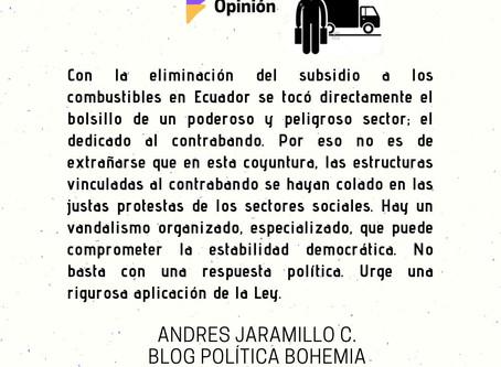 ¿Contrabandistas están tras el vandalismo en Ecuador?