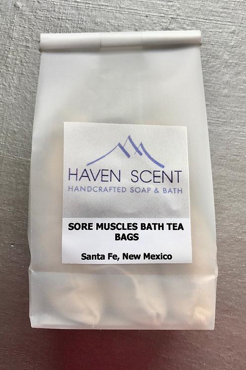 Sore Muscles Bath Tea Bags - 9oz