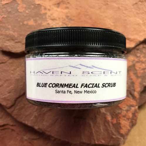 Blue Cornmeal Facial Scrub - 4oz