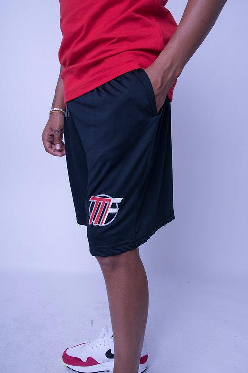 Black Unisex Athletic Shorts