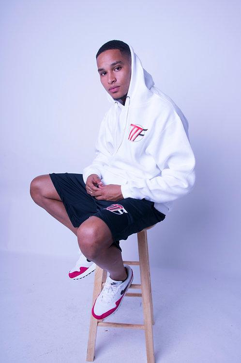White Unisex Regular Pullover Hoodie