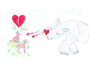 A rhino valentine