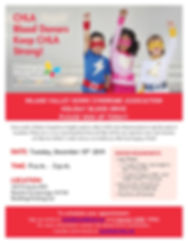 Inland Valley Syndrome Blood Drive Flyer