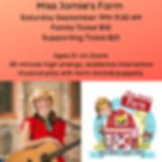 Miss Jamie's Farm Saturday September 19t