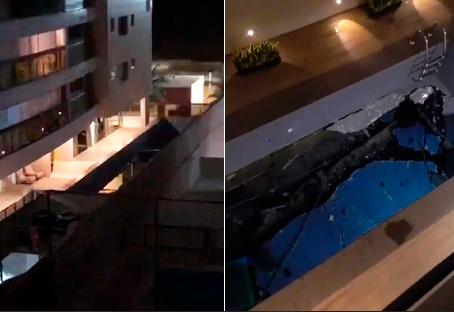 Prédio onde piscina desabou é de 2018 e apartamentos custam até R$ 3 milhões