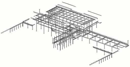 School staalconstructie Lyceum Drachten