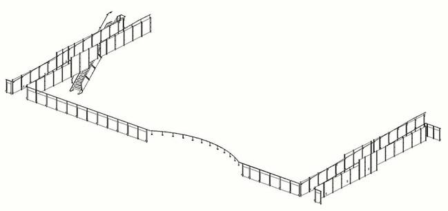 Hekwerk trap/balustrade Lyceum Drachten