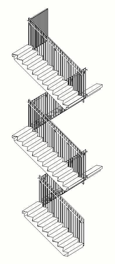 Hekwerk trappenhuis ROC Sneek