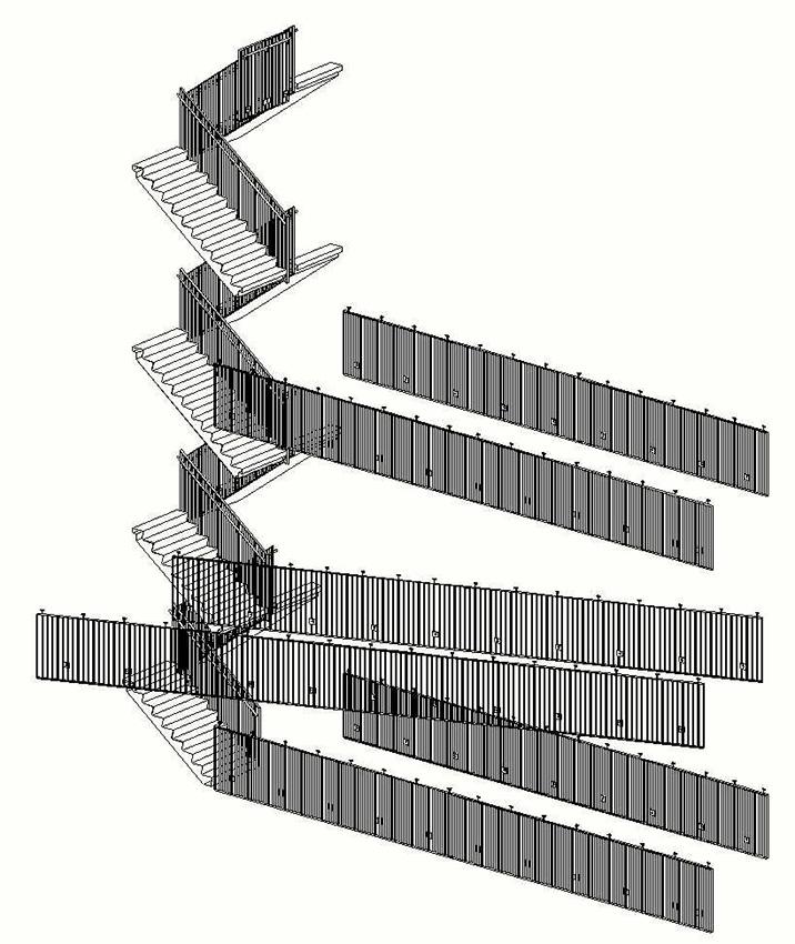 Hekwerk trap/loopbruggen ROC Sneek