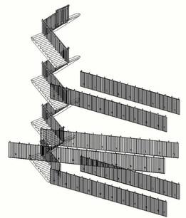 Hekwerk trappenhuis/loopbruggen ROC Sneek
