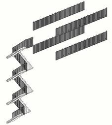 Hekwerk trappenhuis/balustrade ROC Sneek