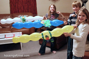 Try out some different balloon shapes