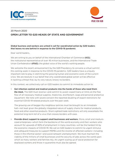 icc-OPEN LETTER TO G20 HEADS OF STATE AN