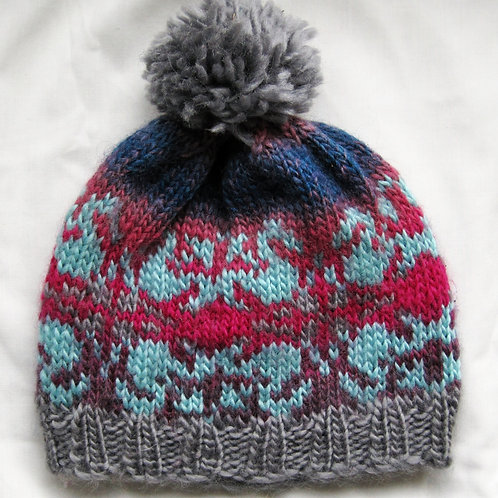 Hand Knit Beanie Hat Adult Small