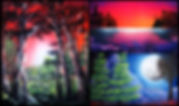 spray paint art landscape paintings trees
