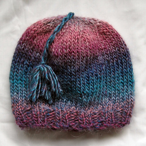 Beautiful Girls Kids Beanie Hat Pinks and Teals