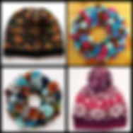 knipine cone pinecone han made wreaths colorful knit hats