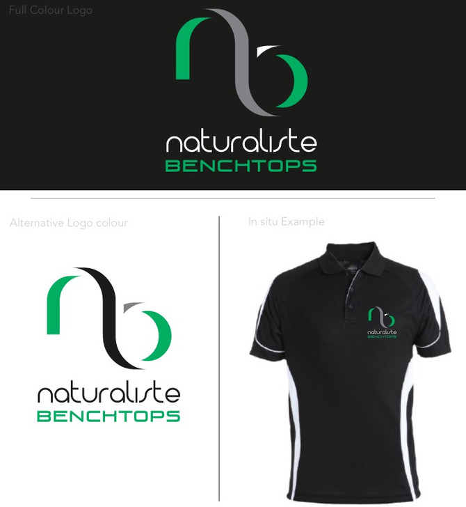 Naturaliste Benchtops logo design