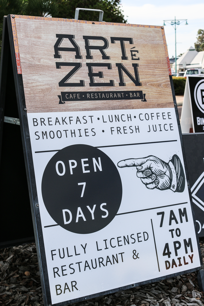 Artezen Cafe - Street Signage