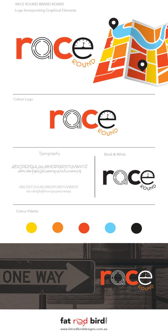 Race Round event logo design