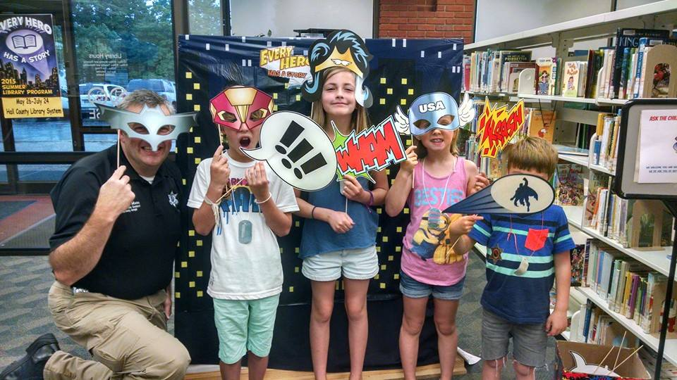 Super Heroes Night Out at HC Library