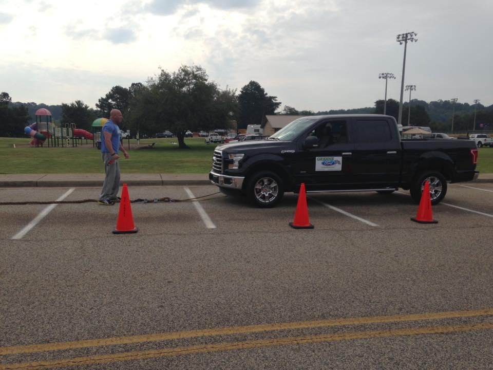 Sgt. Cochran preps for truck pulling
