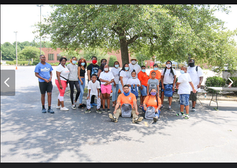 We were able to distribute 200 backpacks and 200 bagged lunches to the community.   Our neighboring nonprofit organization, Absolute Broncos Youth Football and Cheer assisted in volunteering their time to help distribute the supplies.   Thanks to Carli C's IGA for donating cases of water for our bagged lunches and to all of our individual donors who donated monetary and school supplies !