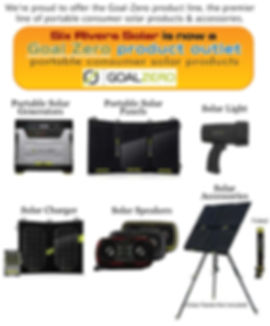 We're proud to offer the Goal-Zero product line, the premier line of portable consumer solar products & accessories. Portable solar generators, portable solar panels, s