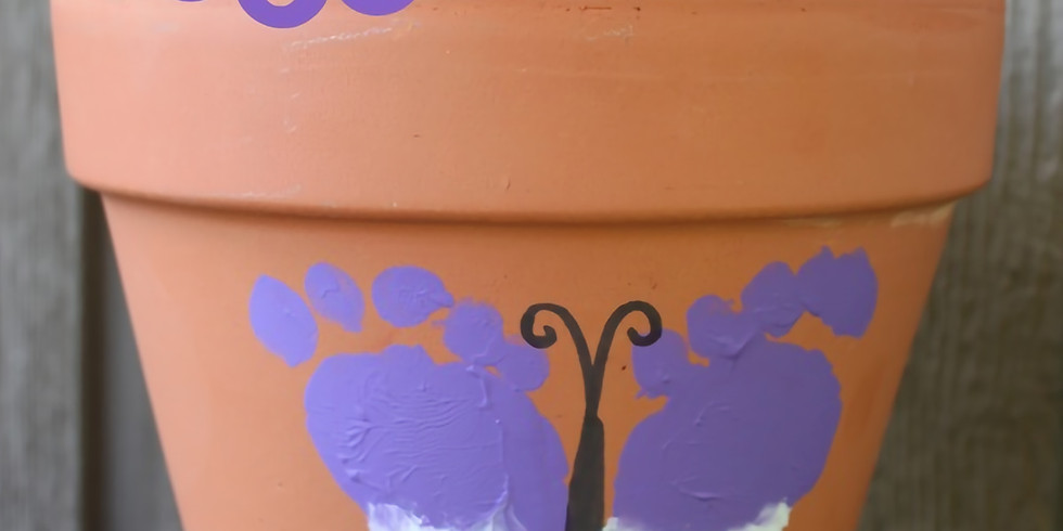 Butterfly Pot Painting - Waterdown
