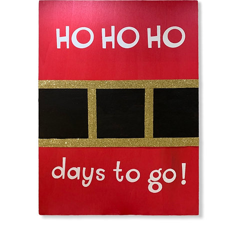HO HO HO Countdown DIY Craft