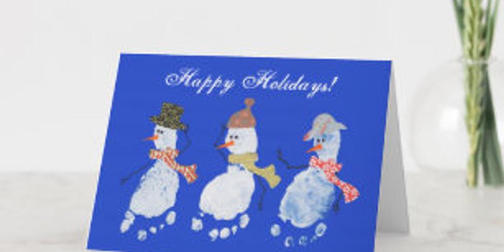 Footprint Christmas Card Making