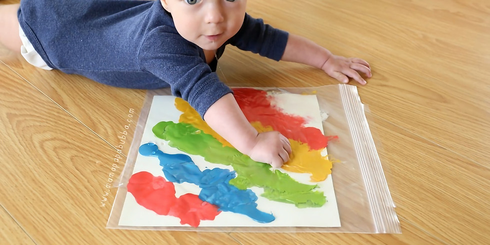 Mess Free Tummy Time Painting
