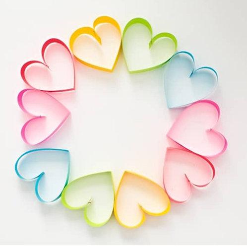 Rainbow Heart Wreath