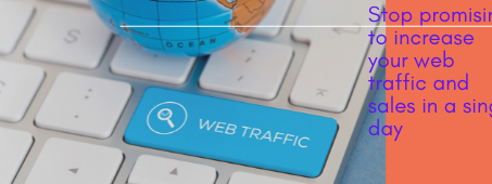 Stop promising to increase your web traffic and sales in a single day