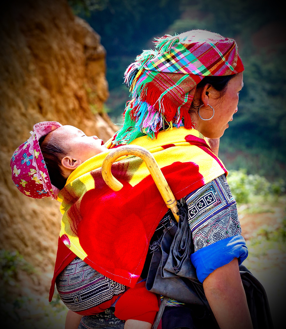 baby sling Cambodia  - enhanced photo