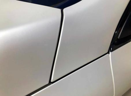 Mercedes Benz GLC szatén fehér fóliázás