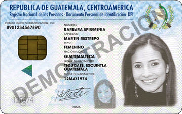 Identification Cards @ Guatemala - Guatemala id card
