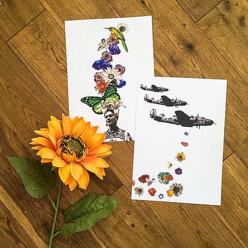 2 Pack Art Prints - Frida & Flowerbombs