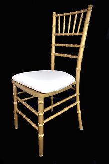 Chiavari Gold Chair with Ivory Cushion.j