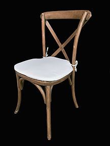Wooden Crossback Chair with off white cu