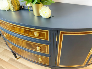 Bow fronted buffet sideboard