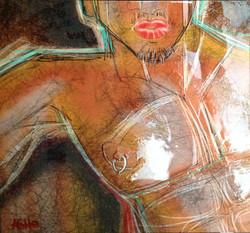 Latin Lover ASHe Levesque 24''x24''x1''  Acrylic & Digital on canvas