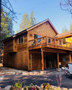 Stained cabin in Tahoe