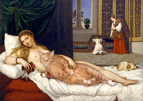 Vênus de Urbino – Titian (1538), recriada por Svetlana Petrova (Fonte: http://www.oscarfilho.com.br/wp-content/uploads/2014/06/The-Venus-of-Urbino-by-Titian-1538.jpg)