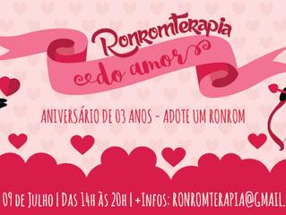 Adote Um Ronrom comemora seus 3 anos  com Ronromterapia especial