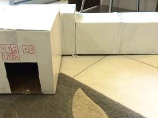 """Faça você mesmo: """"túnel"""" com caixas de papelão"""