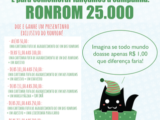 Campanha de Natal: Ronrom 25Mil