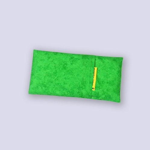 Traubenkernkissen Wärmekissen Längliches Rechteck grün