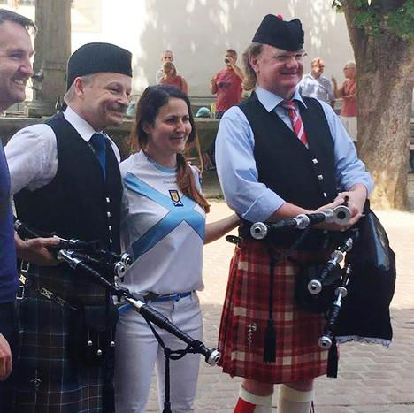 Roland, ein schottischer Fan und Michel